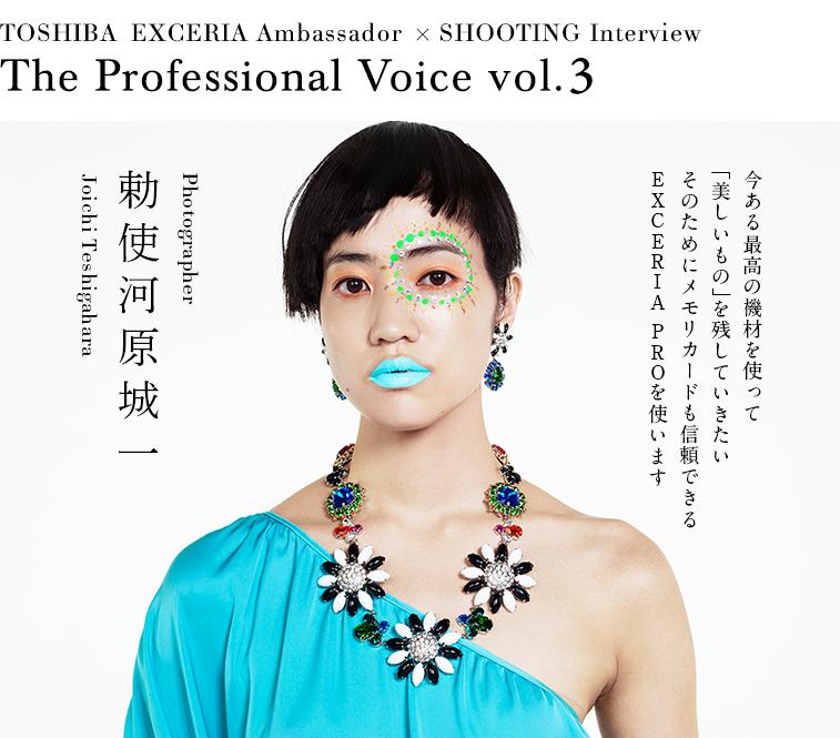 今ある最高の機材を使って「美しいもの」を残していきたい そのためにメモリカードも信頼できるEXCERIA PROを使います - 「The Professional Voice」vol.3 勅使河原城一