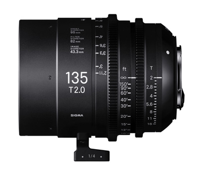 SIGMA CINE LENS FF High Speed Prime Line 14mm T2 FF/135mm T2 FF